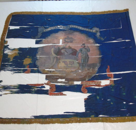 1st Delaware Volunteer Colors, as seen at the conservators, July 2015